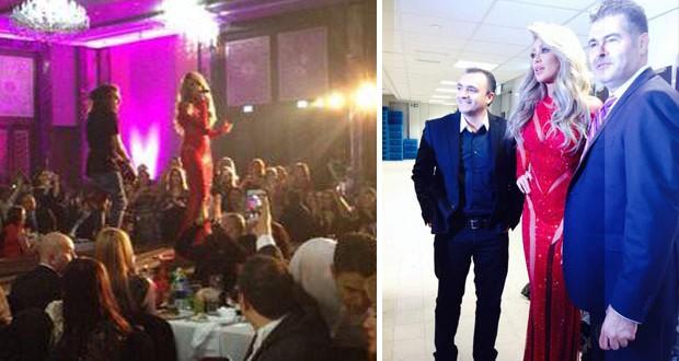بالصور: مايا دياب إستقبلت العام الجديد في دبي وتألقت بالأحمر