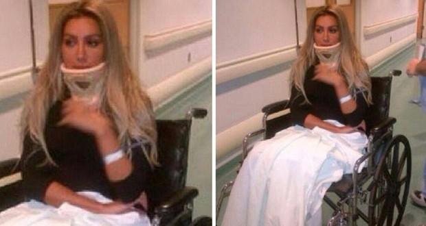بالصورة: مايا دياب تغادر المستشفى وتعتذر عن عدّة إطلالات
