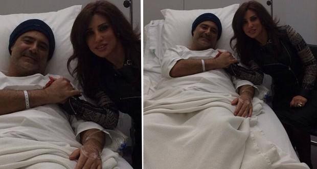بالصورة: نجوى كرم زارت عاصي الحلاني في المستشفى، وهذا ما قالته لأبو الوليد