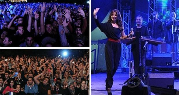 بالصور: نانسي عجرم أحيت أقوى ليالي دبي ومظاهرة جماهيرية رافقتها