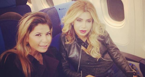 بالصورة: نوال الزغبي وناي سليمان معاً على متن الطائرة