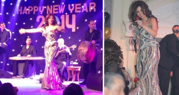 بالصور والفيديو: نجوى كرم شمس أشرقت العام الجديد في واحدة من أجمل السهرات