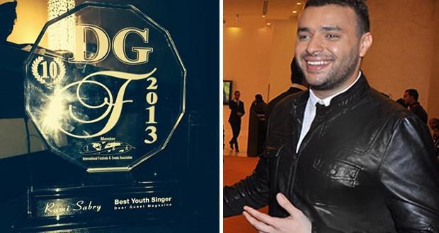 """بالصور: رامي صبري إستلم جائزة """"أفضل فنان شاب"""" ونشاطات فنيّة عديدة بإنتظاره"""