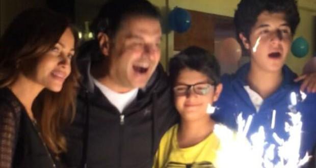 بالصور: راغب علامة إحتفل بعيد ميلاد إبنه لؤي