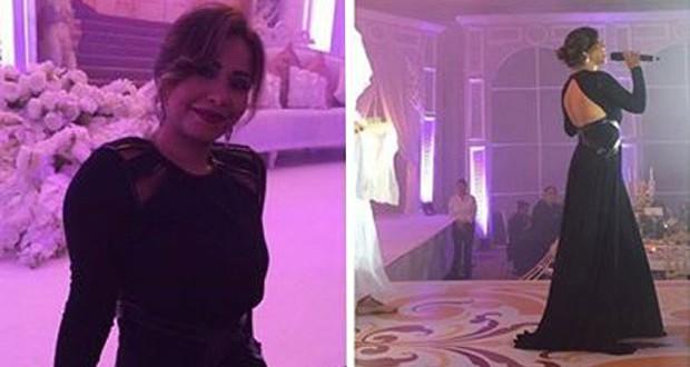 بالصور: شيرين عبد الوهاب تألّقت بالأسود في زفاف خاص في دبي