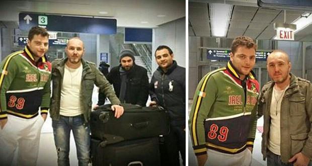 بالصور: عامر زيان في مطار شيكاغو وجولة فنيّة تستمرّ بنجاح