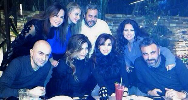 """بالصور: نجوى كرم إحتفلت بـ """"يا يُمّا"""" وعيد ملاد طارق أبو جودة مع الأصدقاء"""