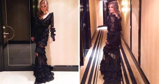 بالصور: نيكول سابا تألّقت بفستان أسود من توقيع نيكولا جبران