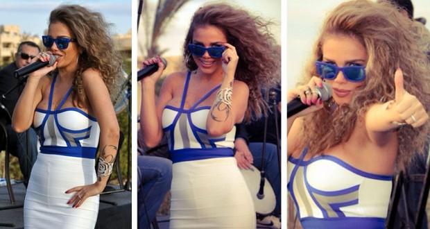 بالصور: نيكول سابا تحدّت الجوّ البارد بفستان قصير