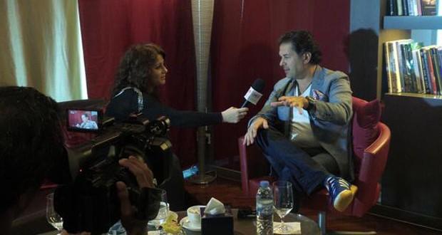 بالصور: التحضيرات لحفل راغب علامة جارية وأجرى العديد من المقابلات في أبو ظبي