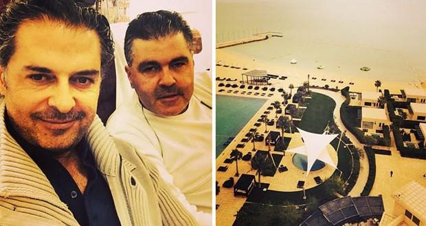 بالصور: راغب علامة الى قطر إستعداداً لمهرجان ربيع سوق واقف