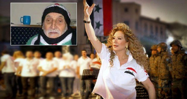 رغدة تنعي وفاة والدها بعد عام من إختطافه على يد مؤيدي الثورة السورية