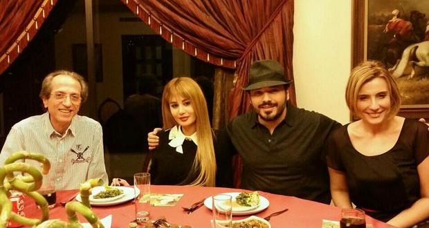 بالصورة: رامي عياش مع زوجته، أبو عدنان وشانتال سرور على العشاء