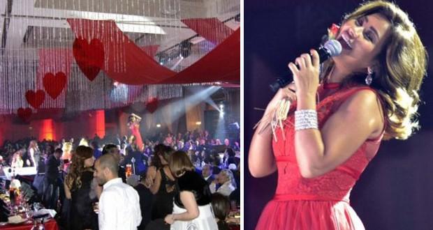 بالصور: شيرين عبد الوهاب تمايلت كالفراشة بالأحمر في عيد الحبّ