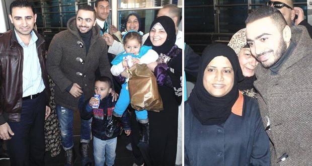 بالصورة: تامر حسني الى الولايات المتحدة والشعب المصري يودعه على المطار