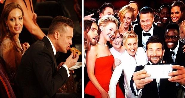 بالصور: Ellen DeGeneres جمعت النجوم في صورة واحدة وطلبت الـPizza في الأوسكار