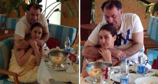 بالصور: غادة عبد الرازق في أجواء رومانسية مع زوجها محمد فودة