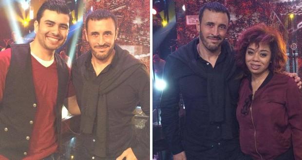 بالصور: كاظم الساهر في التمرينات مع فريقه في The Voice