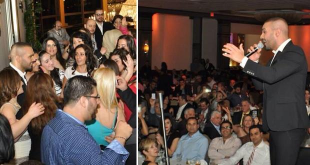 بالصور: حوزيف عطية أشعل هيوستون في حفل جماهيري حاشد