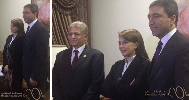 بالصور: إستقبال حار من القنصل اللبناني ومنظمي الحفل لـ ماجدة الرومي في الإسكندرية
