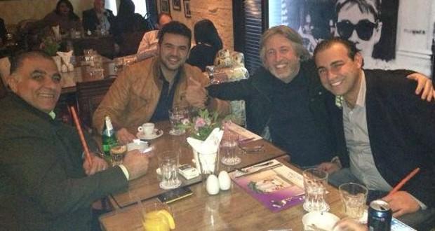 """بالصورة: سامو زين، جمال فياض و""""أحلى صحبه في ليل القاهرة"""""""