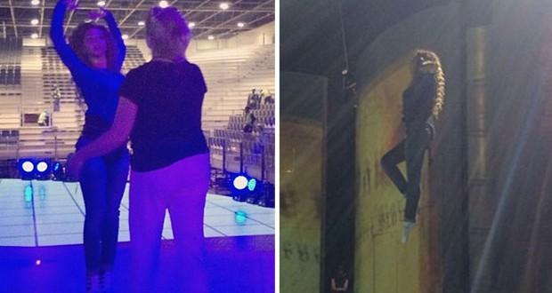بالصور: ميريام فارس تحلق كالفراشة في تمارين عرض Peter Pan
