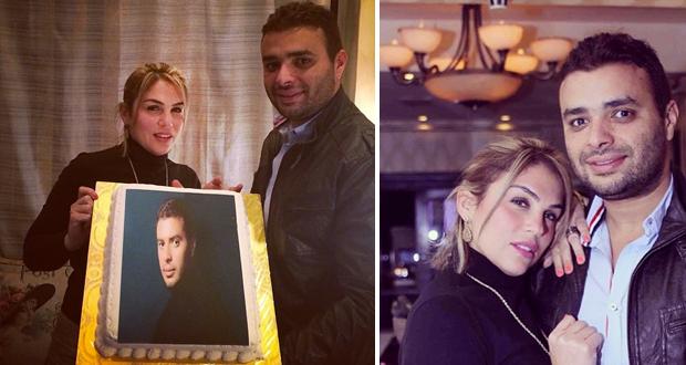 بالصور: رامي صبري إحتفل مع زوجته بعيد ميلاده