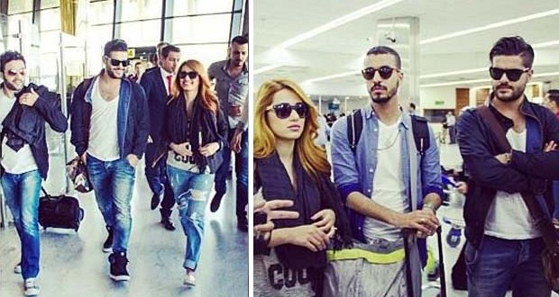بالصور: إستقبال مميّز لـ ناصيف زيتون ورحمة رياض في بغداد