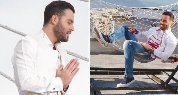 """بالصور: سعد رمضان صوّر """"إحساسك صنم"""" في ألبانيا"""