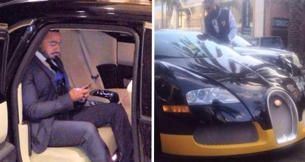خاص بالصور: تامر حسني يسرق الأنظار بسيارة Rolls-Royce ويشتري Bugatti