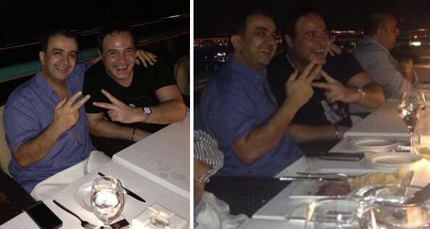 بالصور: عاصي الحلاني مع الشيخ الواليد آل الإبراهيمي على العشاء