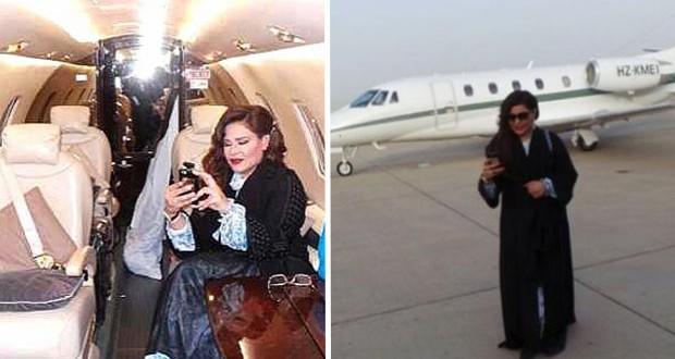 بالصور: أحلام تستعرض طائرتها ومقتنياتها الخاصّة أمام الجمهور