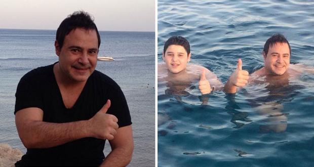 بالصور: عاصي الحلاني ومحمد كريم في عطلة صيفية على شاطئ شرم الشيخ