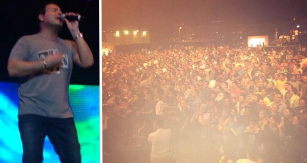 بالصور: عاصي الحلاني أحيا حفل جماهيريّ ضخم في عين السخنة