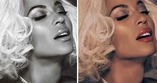 بالصور: Beyonce بـ لوك مارلين مونرو وعارية على غلاف مجلّة Out Power