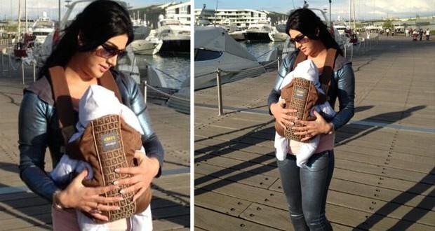 بالصور: زوجة صابر الرباعي إخلاص جنيفن تتنزّه مع طفلهما الرضيع جود هادي