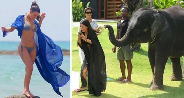 بالصور: Kim Kardashian وعائلتها في إجازة بتيلاند