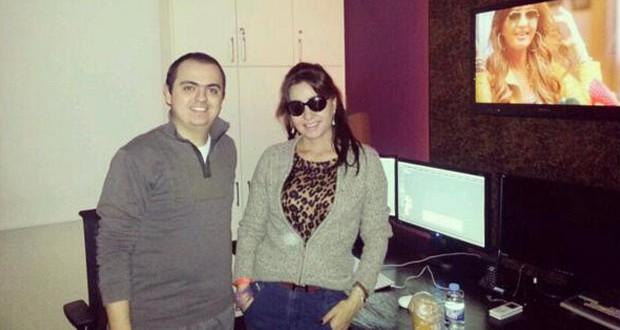 """بالصور: لطيفة تشرف على كليب """"بالعربي"""" مع المخرج وليد ناصيف"""