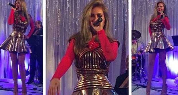 بالصور: نيكول سابا تتألّق بفستان قصير وتحيي فرح مميّز في مصر