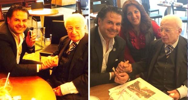 بالصور: راغب علامة إلتقى نقيب الصحافة محمد بعلبكي وهذا ما دار بينهما
