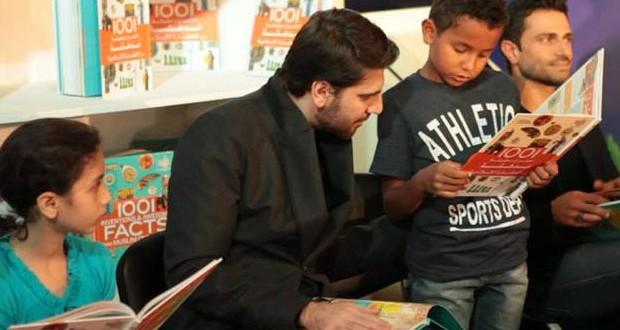 """بالصور: سامي يوسف شارك الأطفال القراءة في """"الشارقة القرائي"""""""