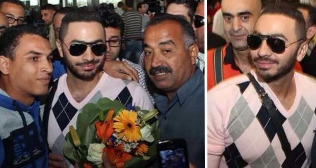 تامر حسني وصل الأردن وبين دولة وأخرى حشود جماهيرية غفيرة في إستقباله