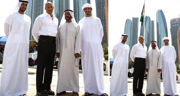 بالصورة: Vin Diesel في الإمارات يوجّه تحيّة لجمهوره