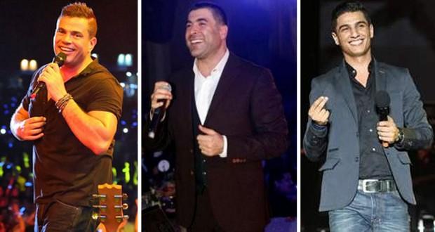 بالصورة: وائل كفوري، محمد عساف وعمرو دياب معاً في حفلة تاريخية واحدة