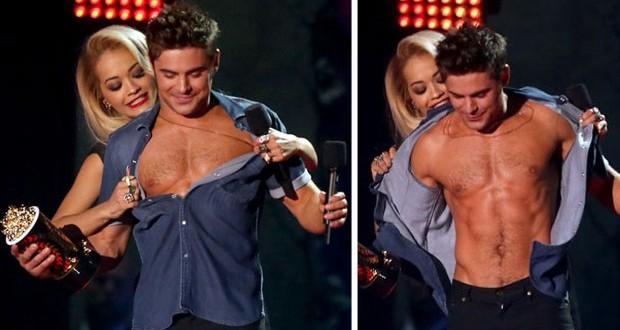 بالصور: Zac Efron يتعرّى في حفل توزيع جوائز الـ MTV