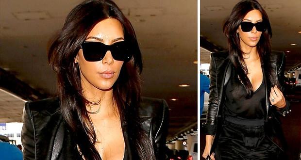 بالصورة: Kim Kardashian سافرت الى فرنسا إستعداداً لحفل زفافها