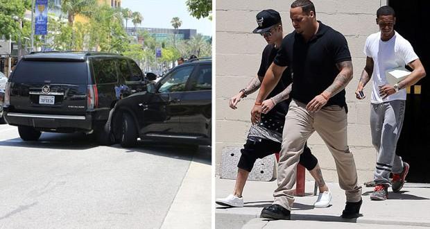 Justin Bieber يتسبّب بحادث سير بعد هروبه من الـPaparazzi