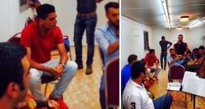 بالصورة: محمد عساف قام بالتمارين اللاّزمة والجمهور يستعدّ لإستقبال محبوب العرب من الآن في جرش