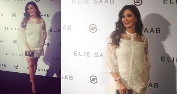 بالصور: إليسا سرقت الأنظار وخطفت الأنفاس بفستان أبيض في عرض إيلي صعب في باريس