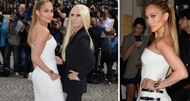 بالصور: Jennifer Lopez تتألّق في أسبوع الموضة مع Donatella Versace